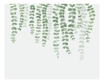Illustrazione della pianta d'attaccatura isolata su fondo bianco