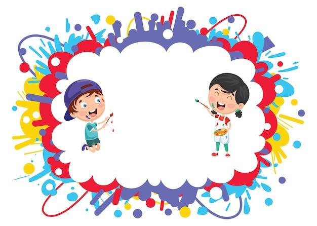 Illustrazione della pittura dei bambini