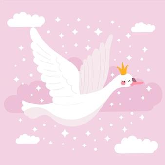 Illustrazione della principessa swan
