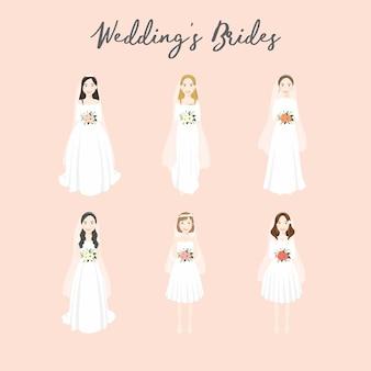 Illustrazione della sposa di nozze