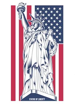 Illustrazione della statua della libertà