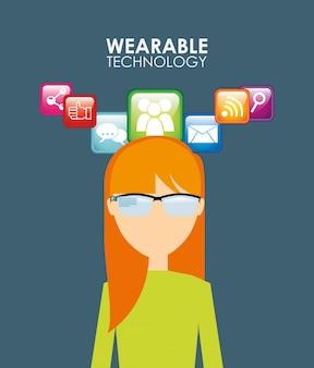 Illustrazione della tecnologia indossabile
