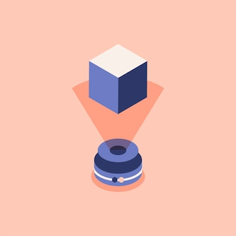 Illustrazione della tecnologia olografica