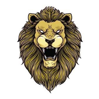 Illustrazione della testa del leone