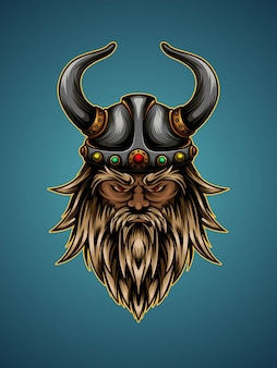 Illustrazione della testa di viking