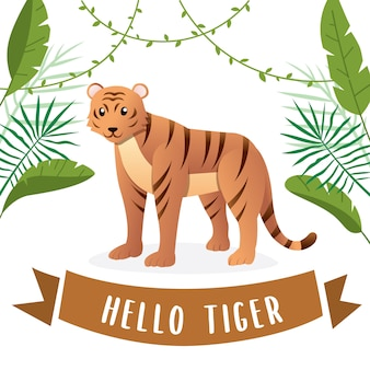 Illustrazione della tigre carino
