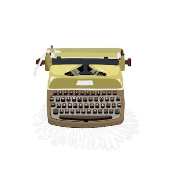 Illustrazione della vecchia macchina da scrivere