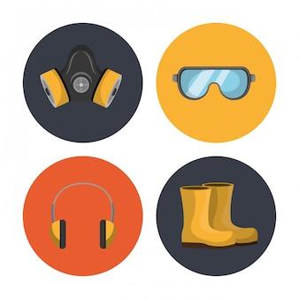 Illustrazione delle attrezzature di sicurezza