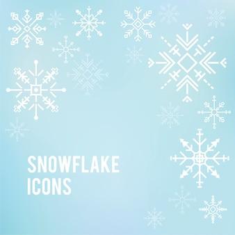 Illustrazione delle icone di fiocco di neve carino