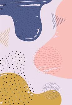 Illustrazione delle macchie di colore di struttura della decorazione dell'estratto di stile di memphis