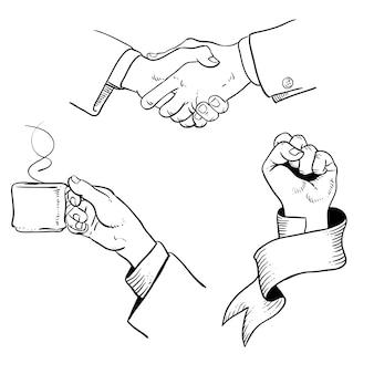 Illustrazione delle mani