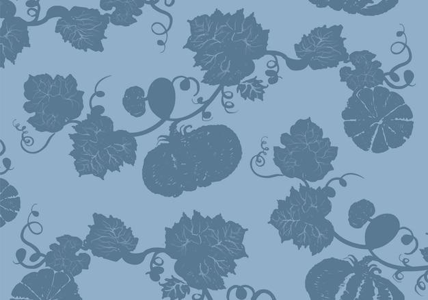 Illustrazione delle zucche nella priorità bassa blu