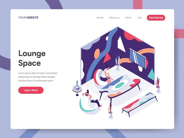 Illustrazione dello spazio lounge