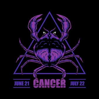 Illustrazione dello zodiaco del cancro