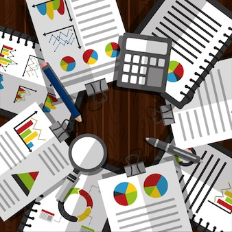 Illustrazione di affari di dati di statistiche