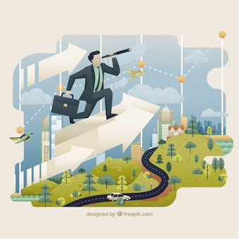 Illustrazione di affari mondo