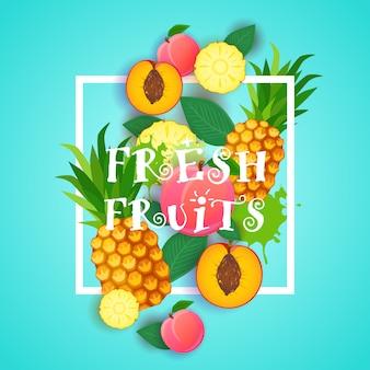 Illustrazione di alimenti biologici concetto di alimenti biologici sani