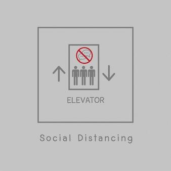 Illustrazione di allontanamento sociale