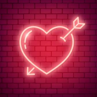 Illustrazione di amore al neon