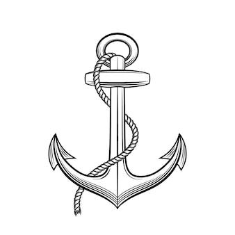 Illustrazione di ancoraggio in stile vintage