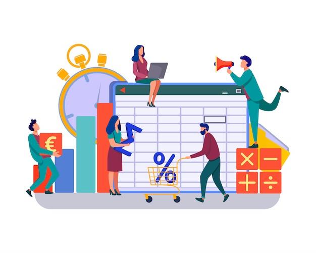 Illustrazione di app di contabilità