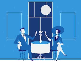 Illustrazione di appuntamento romantico