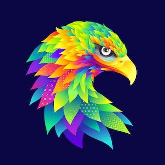 Illustrazione di aquila colorato