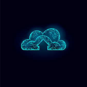 Illustrazione di archiviazione online di cloud computing