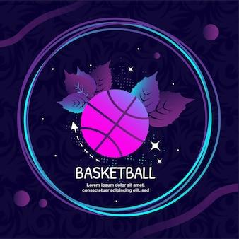 Illustrazione di arte di vettore di logo dell'icona di pallacanestro