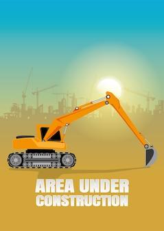 Illustrazione di attrezzature da costruzione.