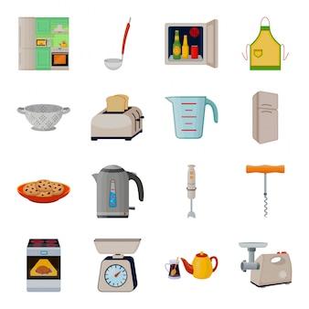 Illustrazione di attrezzature da cucina