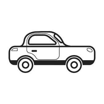Illustrazione di auto berlina disegnata a mano