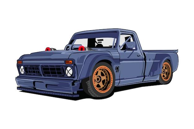 Illustrazione di auto camion