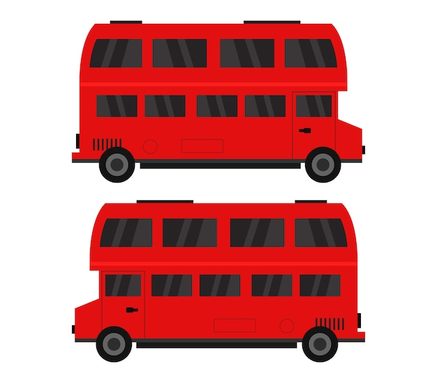 Illustrazione di autobus inglesi
