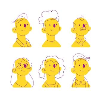 Illustrazione di avatar di persone