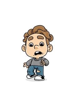 Illustrazione di bambino scioccato
