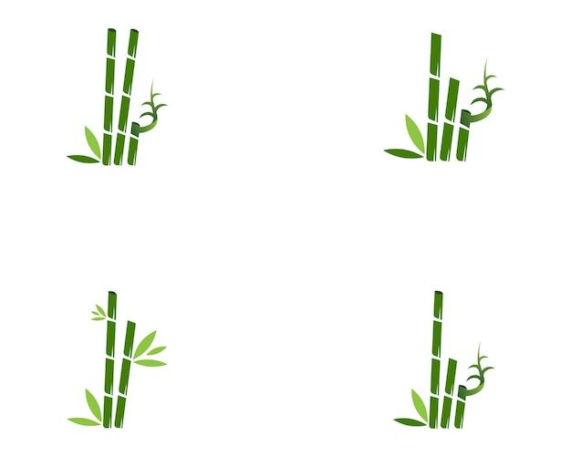Illustrazione di bambù di vettore di progettazione di logo della stazione termale dell'icona