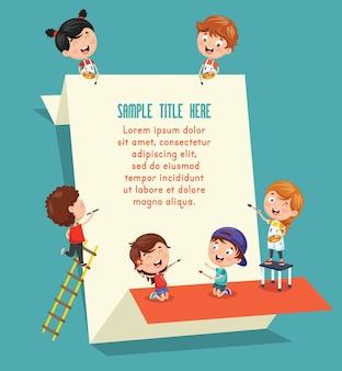 Illustrazione di Banner per bambini