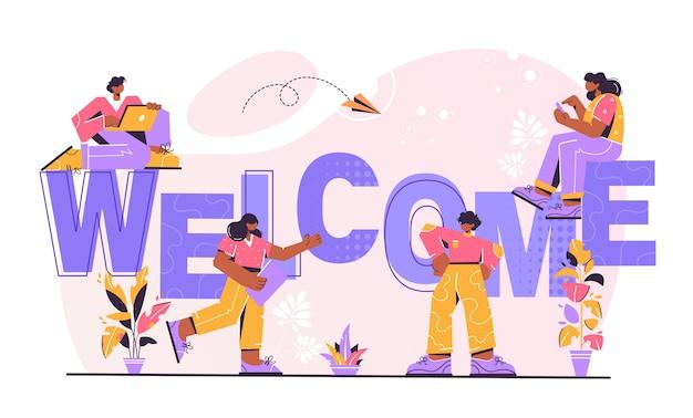 Illustrazione di benvenuto