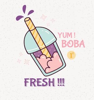 Illustrazione di bevanda carina bolla