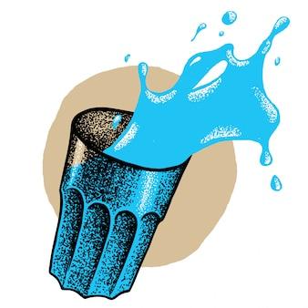 Illustrazione di bicchiere d'acqua
