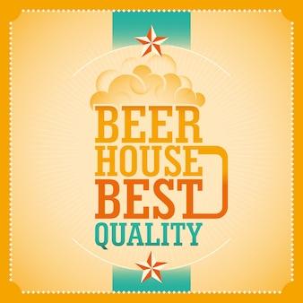 Illustrazione di birra tipografica