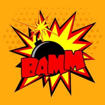 Illustrazione di bomba comica