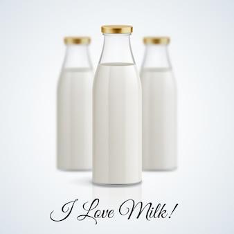 Illustrazione di bottiglia di latte