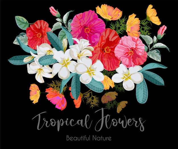 Illustrazione di bouquet di fiori