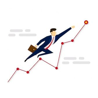 Illustrazione di business concept di miglioramento delle vendite