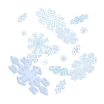 Illustrazione di caduta dei fiocchi di neve
