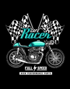 Illustrazione di cafe racer