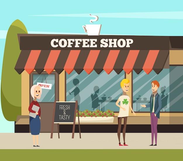 Illustrazione di caffetteria
