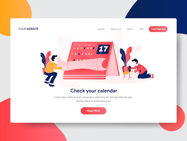 Illustrazione di calendario e appuntamenti per la pagina web